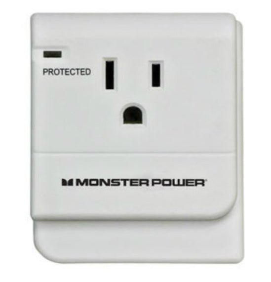 Monster 612-1OUTWTAP Cable Surge Protection Outlet Wall Tap, 15 Amp, 120 V