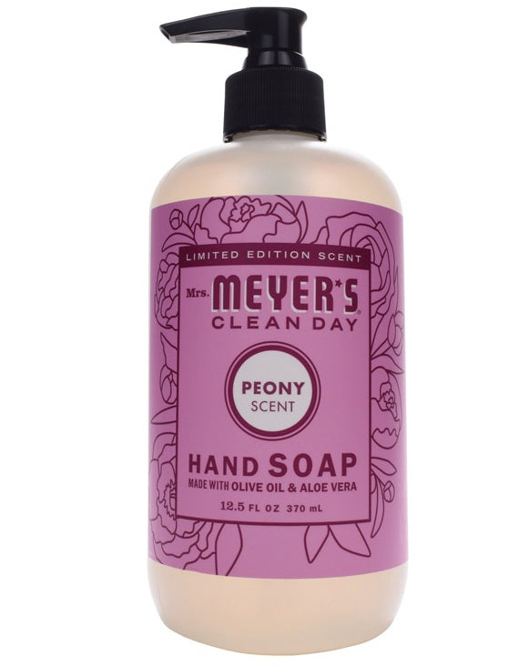 Mrs Meyer S Clean Day Liquid Hand Soap Peony Scent Low