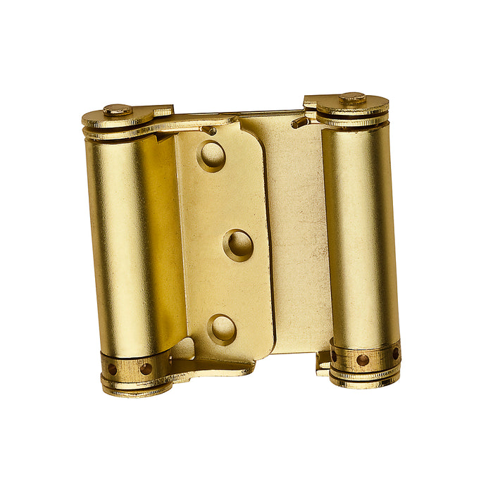 National Hardware N100-049 V127 Double-Acting Spring Hinges, Satin Brass, 3