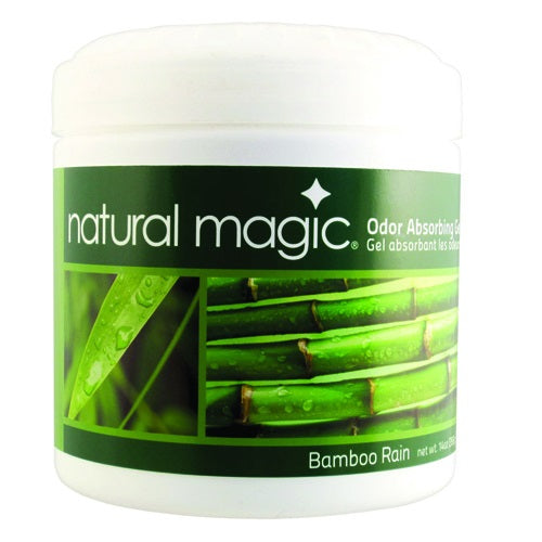 Natural Magic 4038 Odor Absorbing Gel, Bamboo Rain scent, 14 Oz