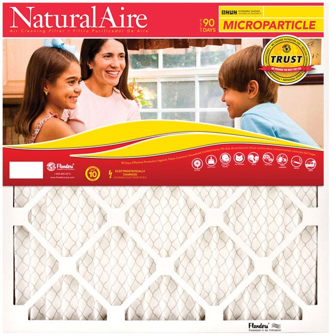 NaturalAire 85156.012020 Micro Particle Pleated Air Filter, 20