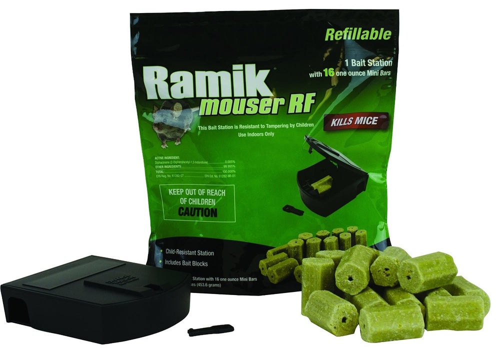 Neogen 000900 Rodenticide D-Ramik Refillable Bait Station, Black, 16 Oz
