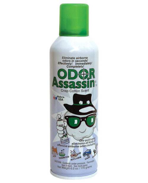Odor Assassin 125711 Crisp Cotton Scent Odor Eliminator, 6 Oz