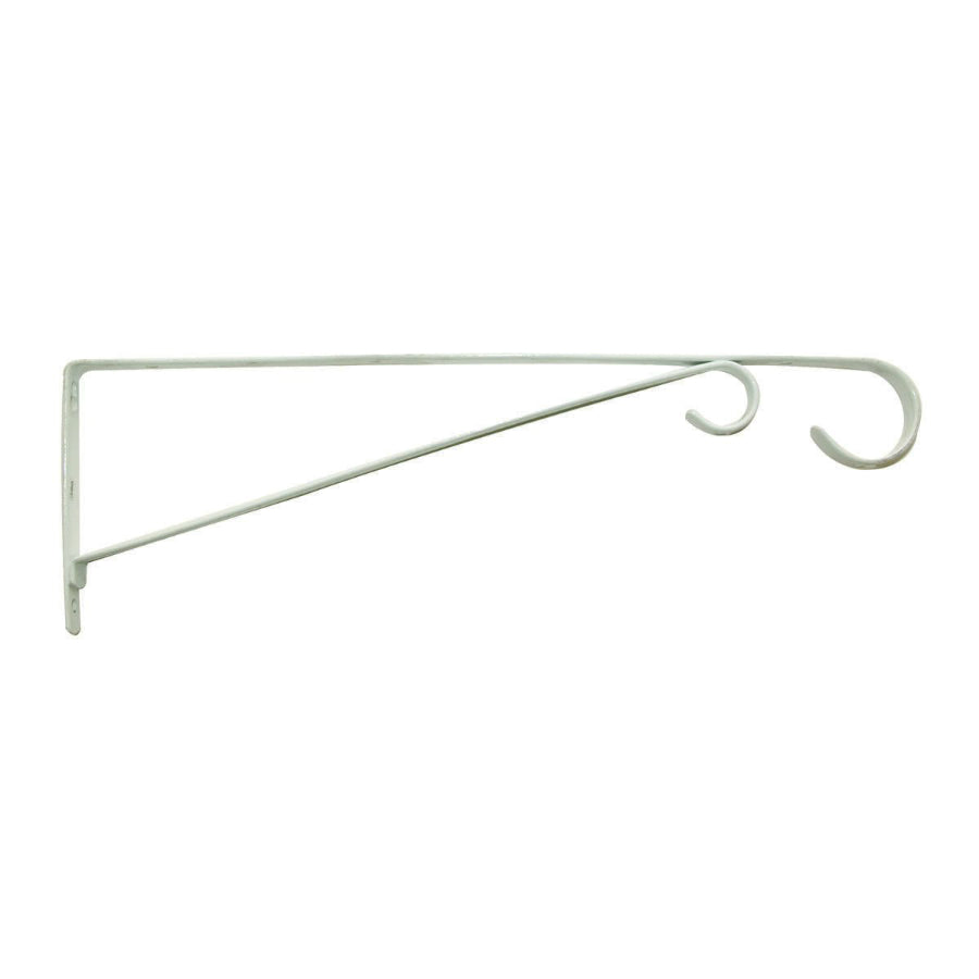 "Panacea 85552 Basic Plant Bracket, 15"", Steel, White"