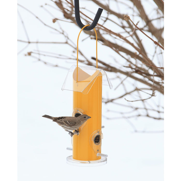 Perky-Pet 390 Yellow Metal Tube Wild Bird Feeder