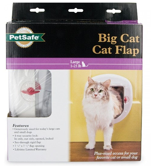 PetSafe HPA11-10888 4-Way Locking Big Cat Door, 7-1/8