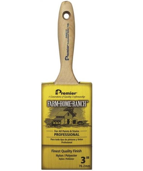 Premier Paint Roller FHR00133 Farm Home Ranch Flat Sash Paint Brush, 3