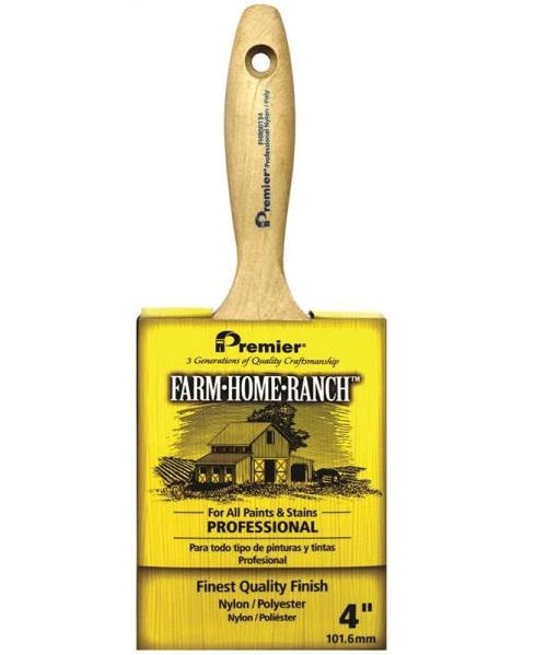 Premier Paint Roller FHR00134 Farm Home Ranch Flat Sash Paint Brush, 4