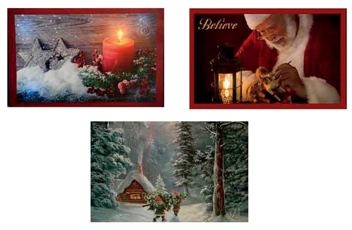 Product Works 61085_PDQ6 Candy Cane LED Canvas Christmas Picture, 11