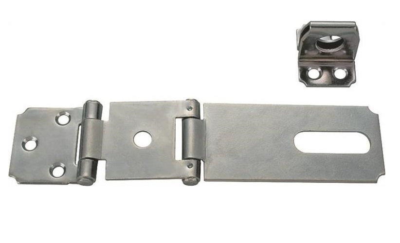 Prosource LR-136-BC3L-PS Double Hinge Safety Hasps, Zinc Plated,  3-1/2