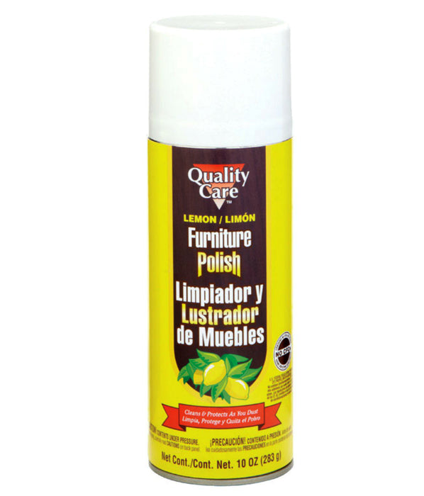 Quality Care QCBL00001 Furniture Polish Spray, 10 Oz, Lemon Scent