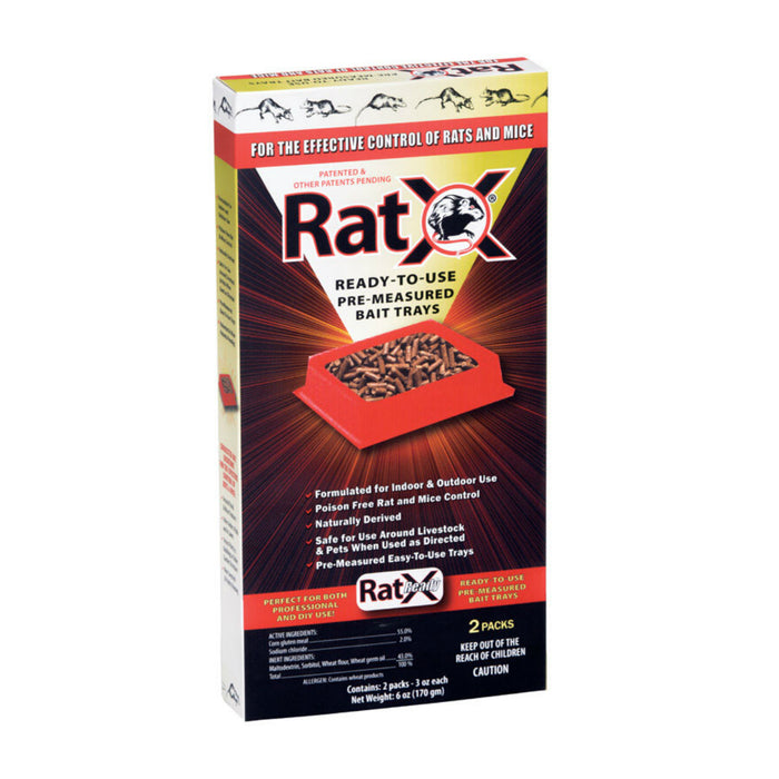 RatX 620104 Rats Pre-Measured Bait Tray, 3 Oz