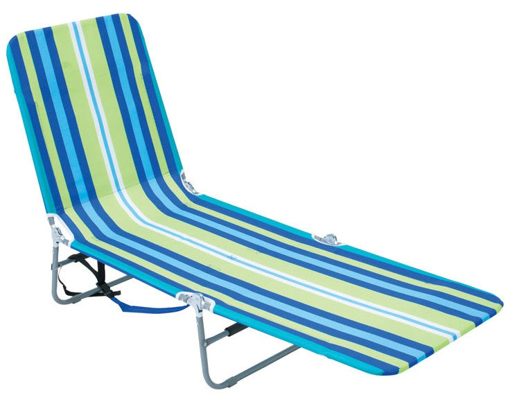 Rio Brands BPL-1616 Backpack Folding Lounger, Steel, Multicolored