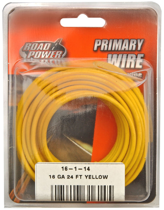 Road Power 55668333 Primary Electrical Wire, 16 Gauge, 24', Yellow