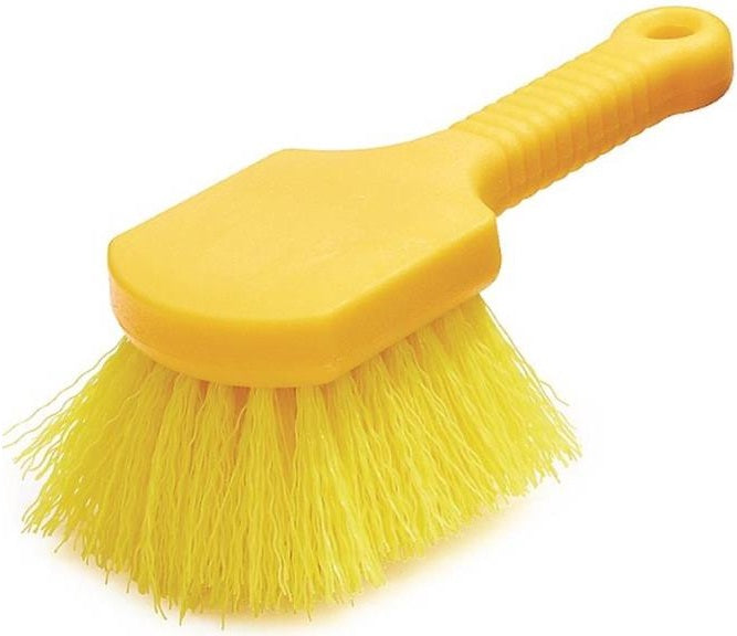 Rubbermaid FG9B2900YEL Plastic Handle Utility Brush, 8