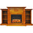 Cambridge CAM7233-1TEKLG2 Sanoma Electric Fireplace Mantel, Teak, 72""