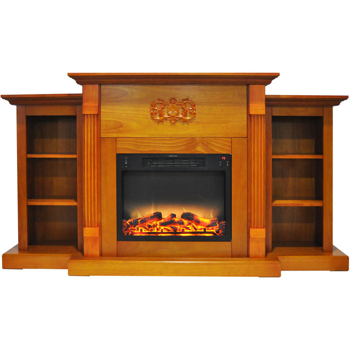 Cambridge CAM7233-1TEKLG2 Sanoma Electric Fireplace Mantel, Teak, 72
