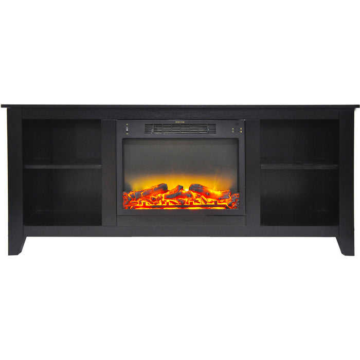 Cambridge CAM6226-1COFLG2 Santa Monica Fireplace Mantel, Dark Coffee, 63