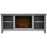 Cambridge CAM6226-1GRY Santa Monica Electric Fireplace Mantel, Grey, 63""