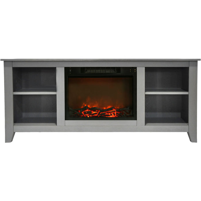 Cambridge CAM6226-1GRY Santa Monica Electric Fireplace Mantel, Grey, 63