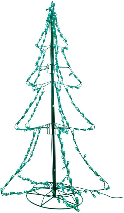 Santas Best Christmas Trees.Santa S Best 7407292 Led Tree Silhouette 6 Multicolored Metal