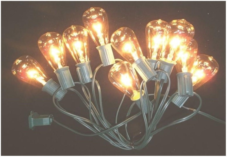Santas Forest 19025 Vintage Light Set, Clear, 10 Lights