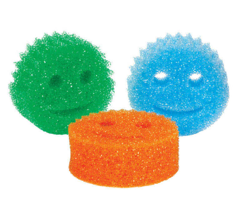 Scrub Daddy SDC3PK Multi-Colored Sponges, Set Of 3