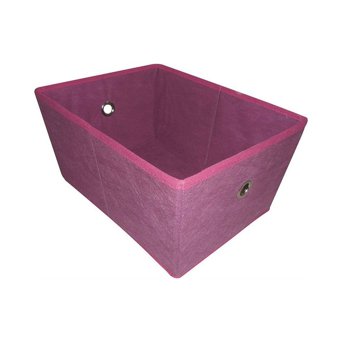 Simple Spaces 05000949P Storage Bin With Holes, Purple, 16