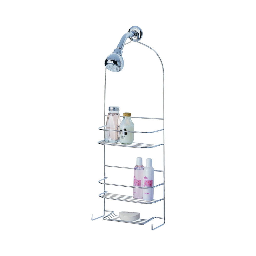Simple Spaces Ss-5786-ch-3l Deluxe Shower Caddy, Chrome