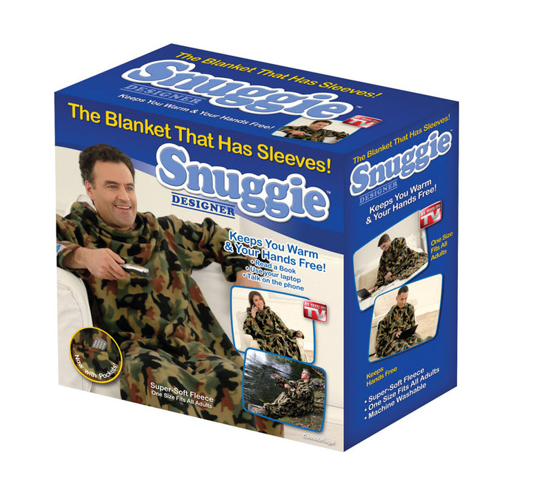Snuggie SN491106 Fleece Blanket with Sleeves, Camouflage Color