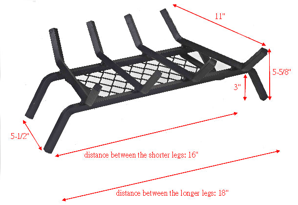 Fireplace Grate With Ember Retainer Low Price Fireplace Goods