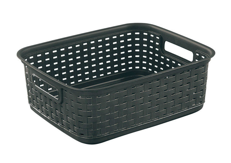 Sterilite 12726P06 Short Weave Basket, Brown, Plastic