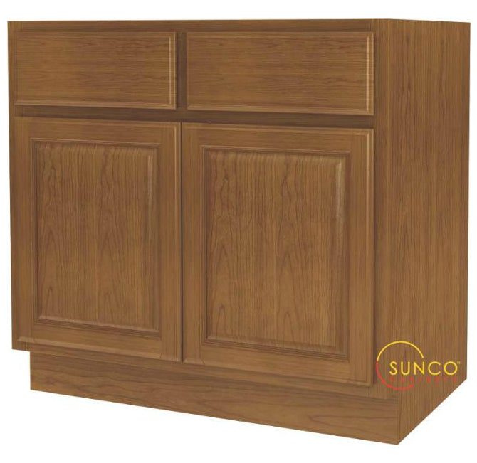 Sunco SB36RT-B Wide 2-Door Sink Base Cabinet, 36