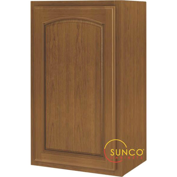 Sunco W1830RA One Door Oak Cabinet, 18