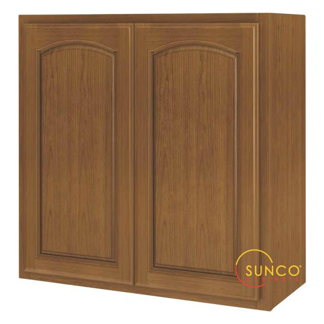 Sunco W3030RA-B Two Door Oak Cabinet, 30