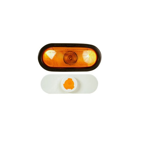 Truck-Lite 82843 60-Series Front/Park/Turn Oval Lamp #60340Y, Amber