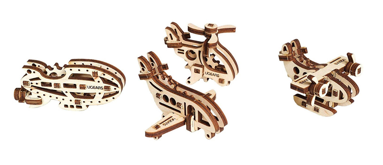UGears 502152 U-Fidget Aircraft 3D Puzzle Model, Wood