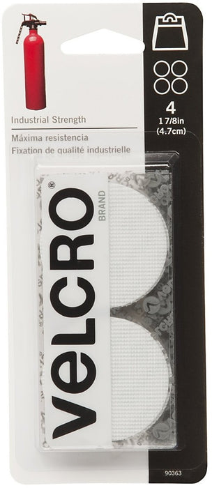 Velcro 90363 Sticky Back Hook And Loop Coin Fastener, 1-7/8