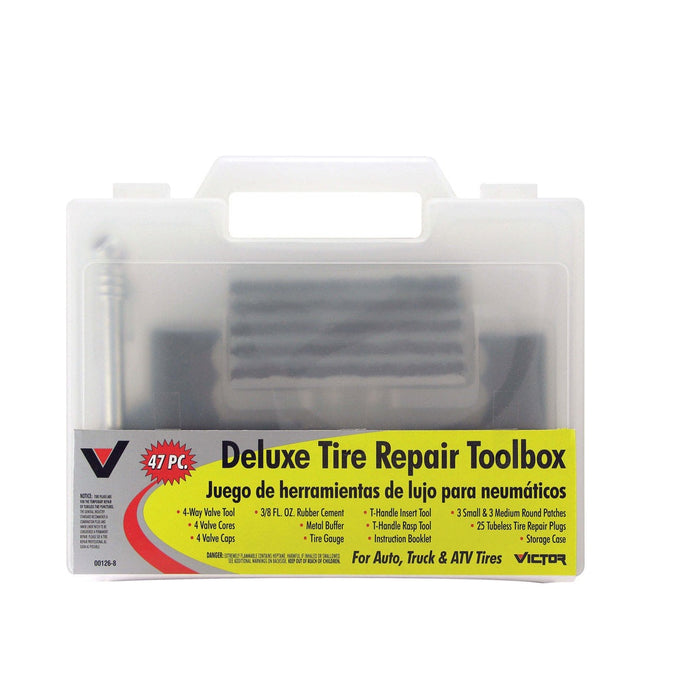 Victor 22-5-00126-8 Deluxe Tire Repair Toolbox, 47 Pieces