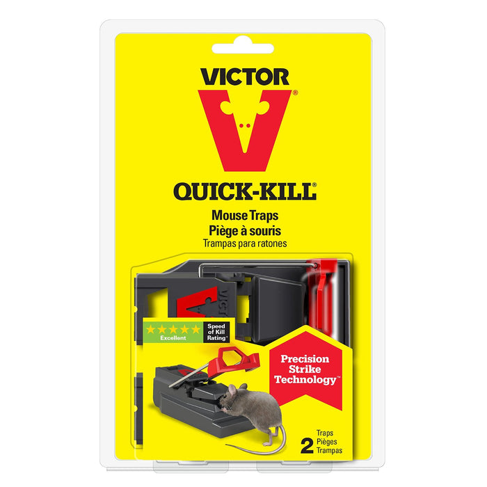 Victor M140S Quick-Kill mouse traps, Per Package of 2