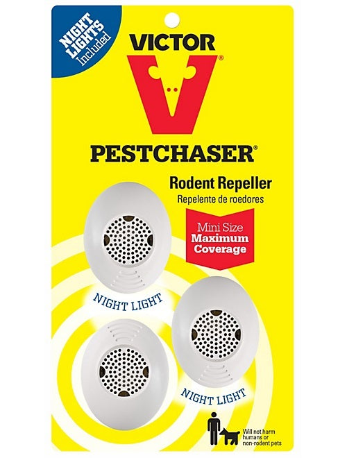 Victor M753SN Mini PestChaser Rodent Repeller With Nightlight, 3/Pack