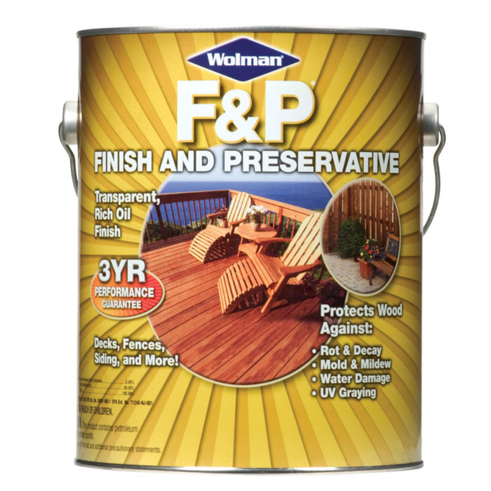 Wolman 1440-6 F&P Wood Finish And Preservative, Redwood, 1 gallon