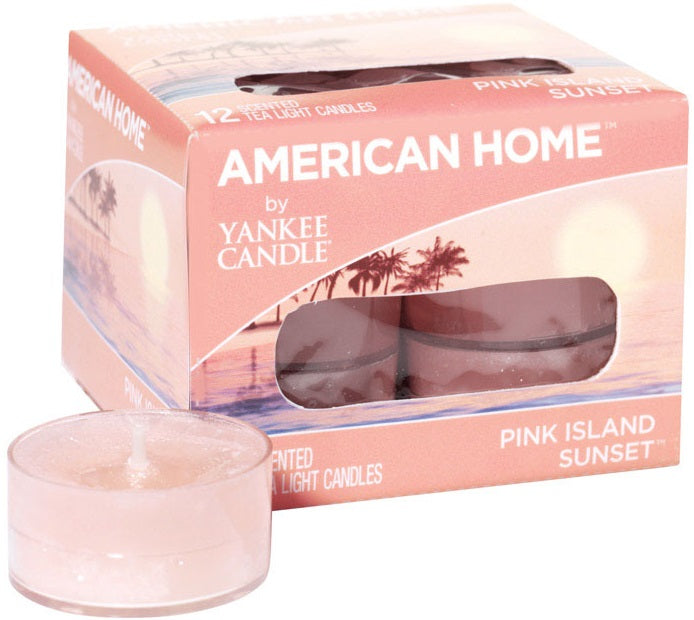Yankee Candle 1513841 American Home Tea Light Candles, Pink Island Sunset  Scent