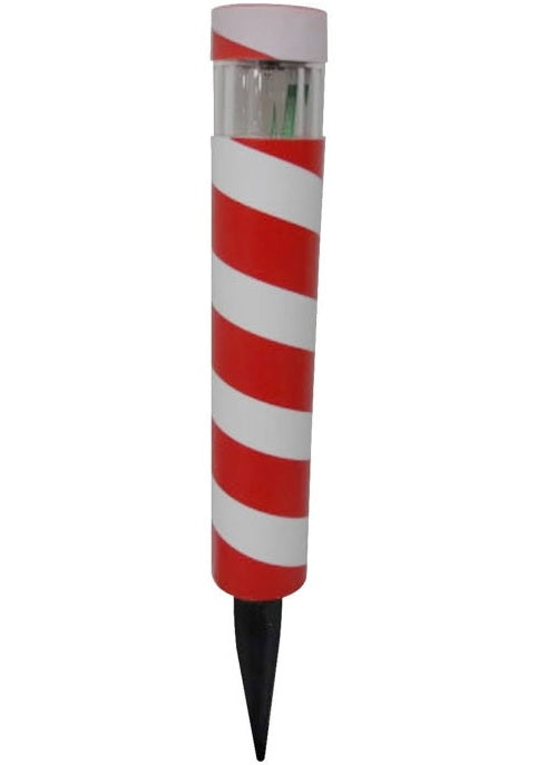 Yards & Beyond RS51P-XM19-T20 Solar Christmas Candy Cane Bollard