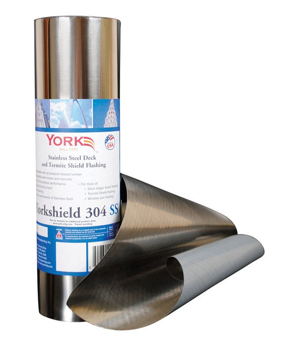 York RESYS304SS12/20 Yorkshield Flashing Roll, Stainless Steel, Silver, 240