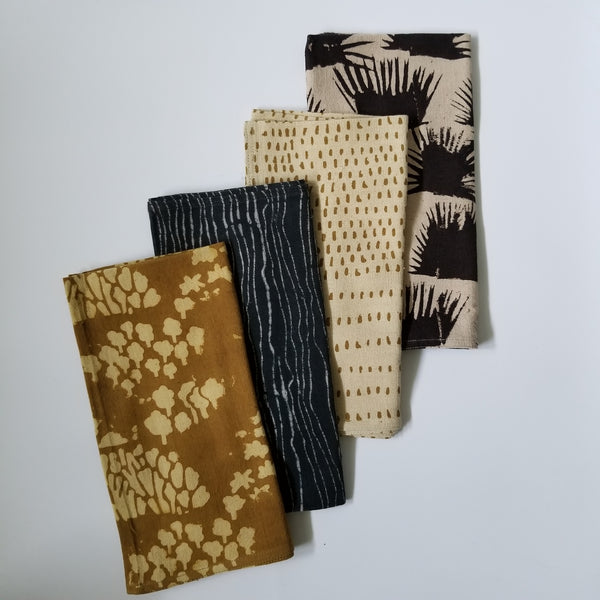 Ichcha - Black and Gold - Mix + Match Napkin