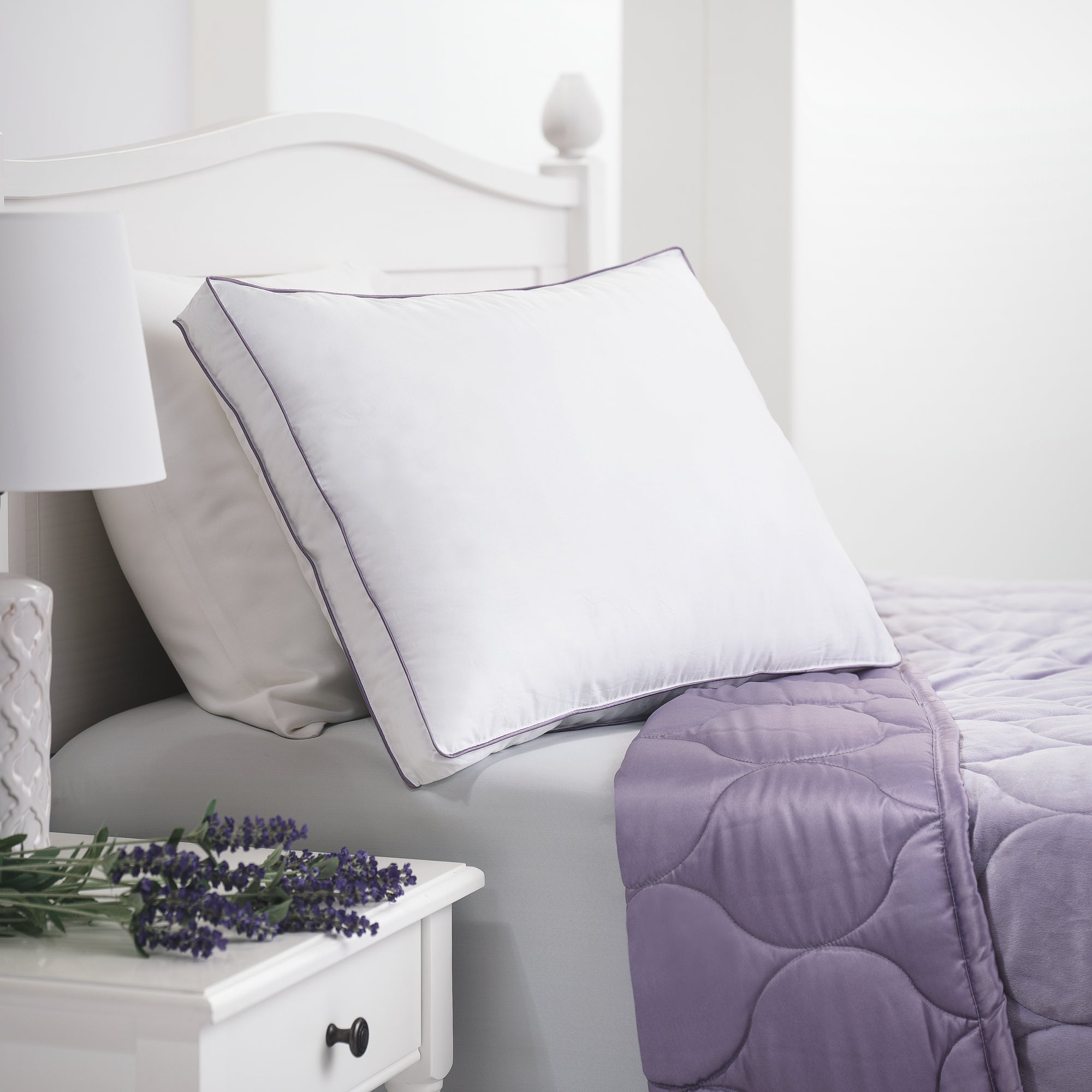 Lavender SleepInfusion Gusset Pillow