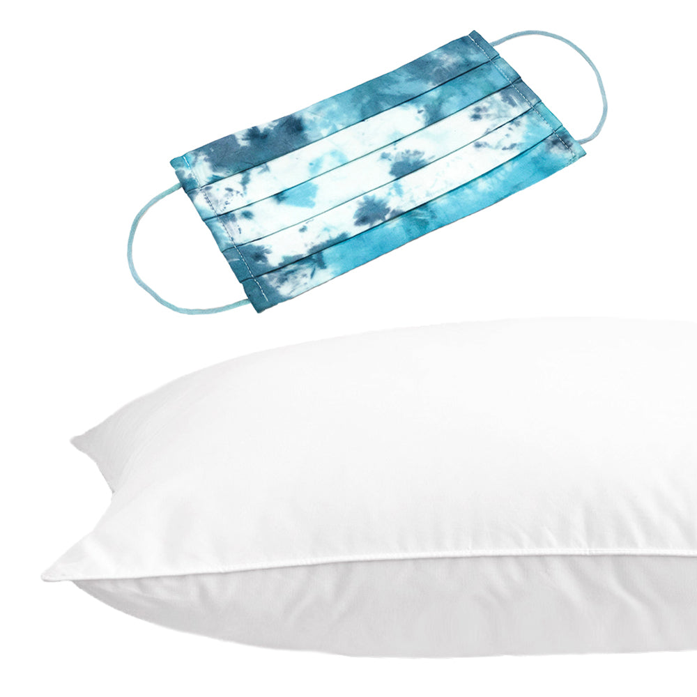 ALLERGEN BARRIER PILLOW + TIE-DYE FACE MASK BUNDLE