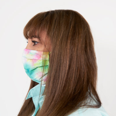 TIE-DYE ALLERGEN BARRIER COTTON FACE MASK