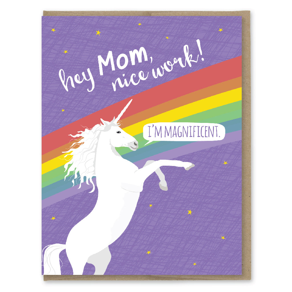 Card. Magnificent Unicorn